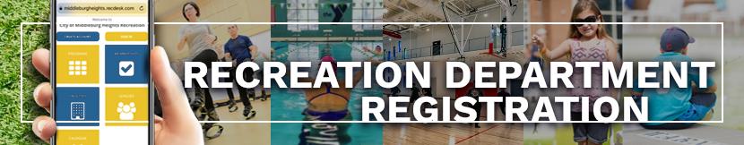 recreation department registration button