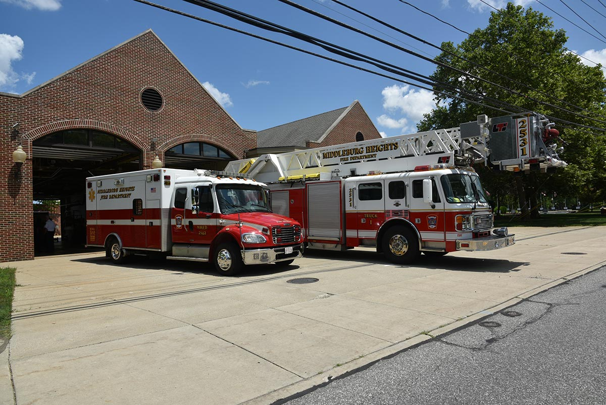Fire Station and trucks