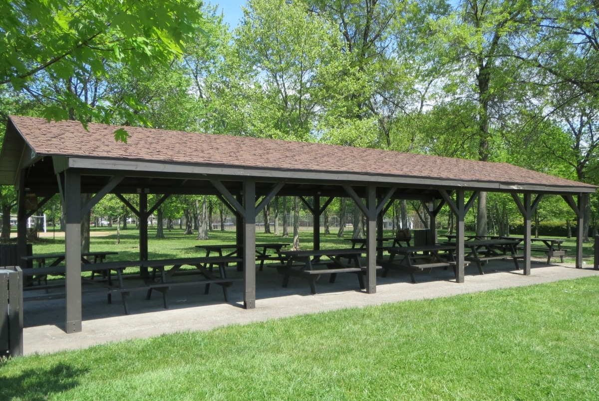 Outdoor awning in the park