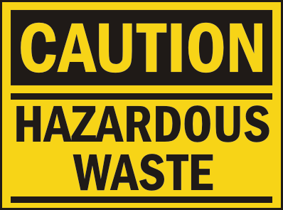 hazardous-waste-caution sign