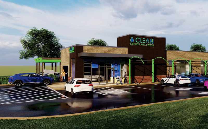 CLEan Express Car Wash Rendering