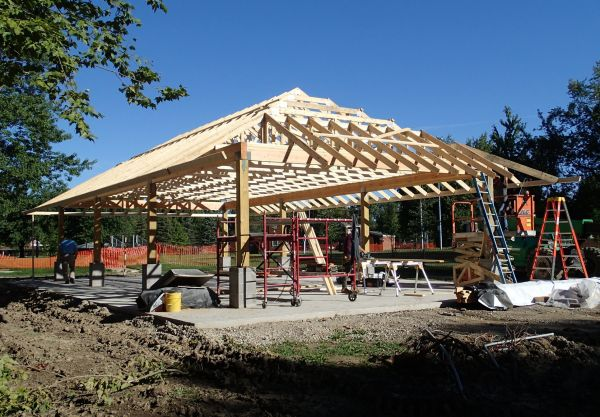 Middleburg Heights Municipal Campus Park Pavilion Construction