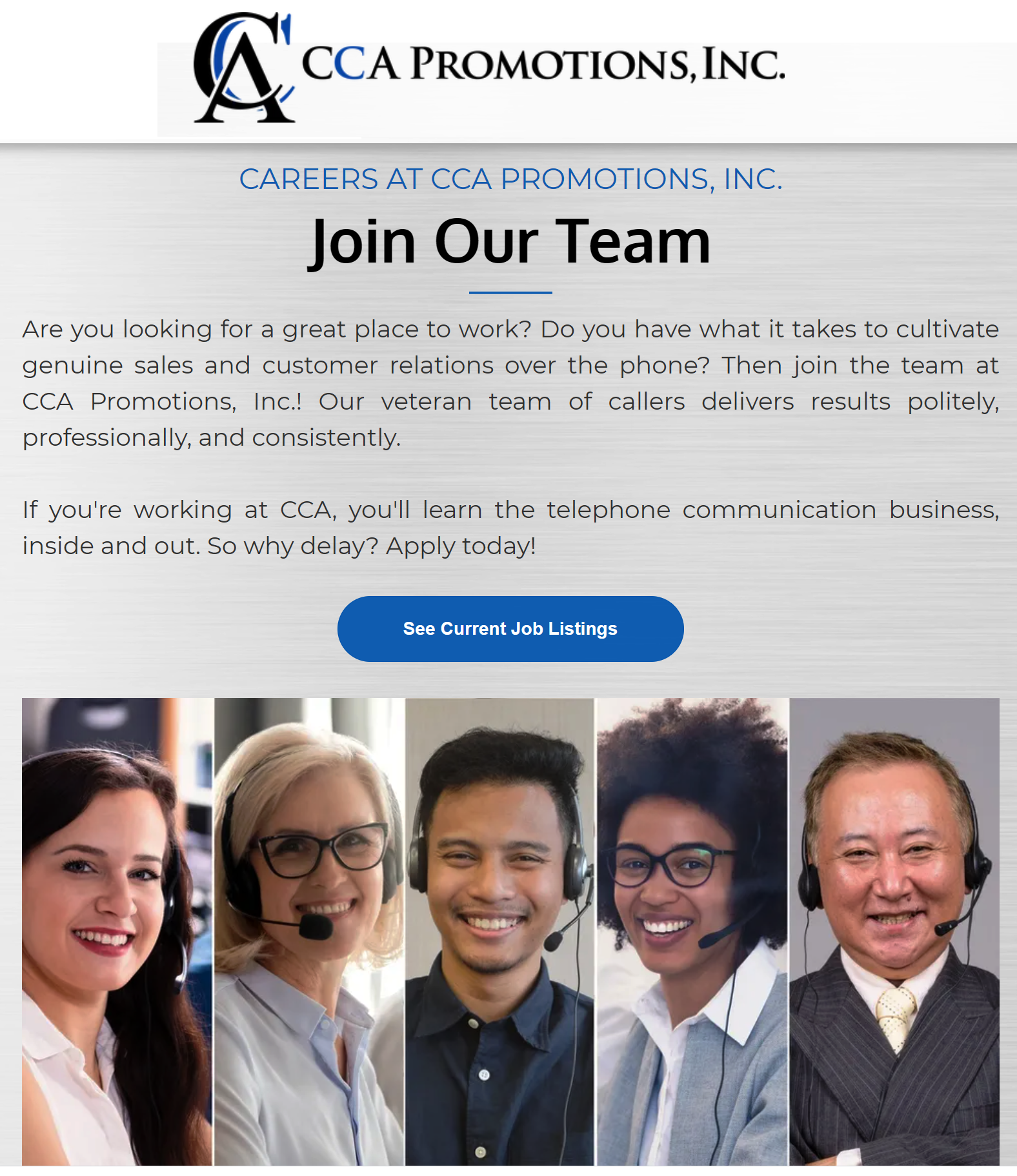CCA Promotions - Hiring